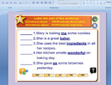 Parts of the Sentence Exercise for Powerpoint
