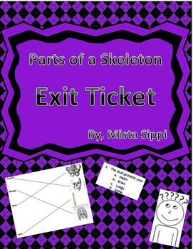 Parts of the Skeleton Exit Ticket Assessment