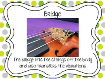 Parts of the Violin with Matching Game for SMART Software