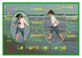 Parts of the body Poster in Italian . A3 size