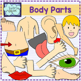 Parts of the body clipart {Science Clip art}