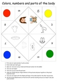 Parts of the body, number and color practice multi- language