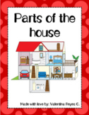 Parts of the house vocabulary & writing activities -Partes