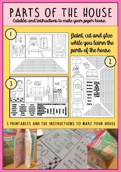 Parts of the house: Vocabulary and craft