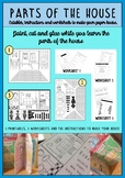 Parts of the house: worksheets and craft