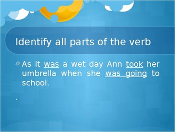 Parts of the verbs and alphabetical order