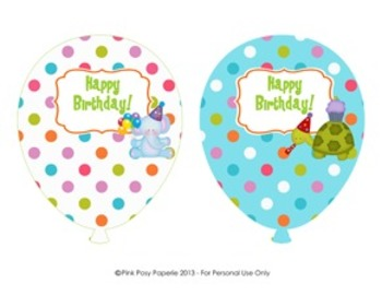 Party Animal Birthday Balloons (4 different designs)