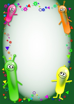 Party Balloon Clip Art and Birthday Page Border Designs