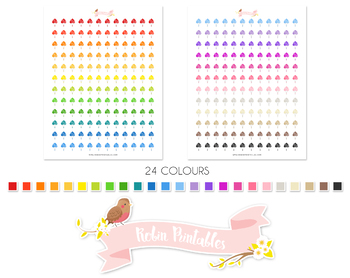 Party Balloons Printable Planner Stickers