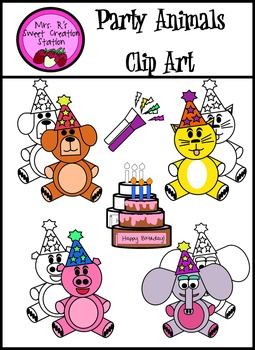Clip Art Party Animals