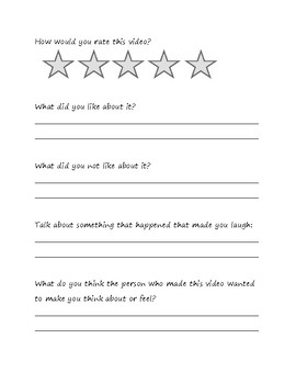 Party Cloudy Disney Pixar Companion Worksheet