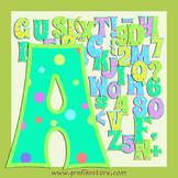 Party Coloured Alphabet Letters Digital Clipart - Coloured Letter Graphics