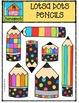 LOTSA DOTS Pencils {P4 Clips Trioriginals Digital Clip Art}