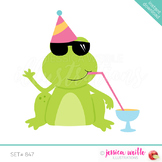 Party Drink Frog Clip Art