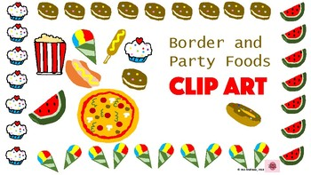 Party Foods Border and CLIP ART