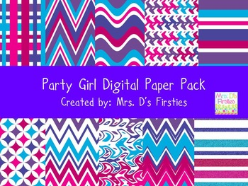 Party Girl Digital Paper Pack