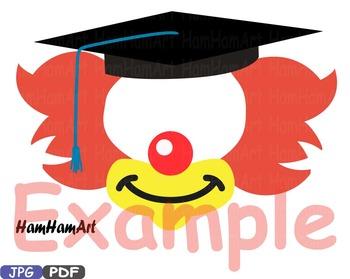 Party Graduation Circus Photo Booth Props JPG PDF Silhouette Costume grad -1p