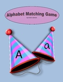 Party Hat ABC Folder Matching Game