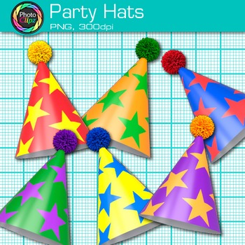 Birthday Party Hat Clip Art {Graphics for Worksheets & Classroom Resources}