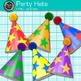 Birthday Party Hat Clip Art {Graphics for Worksheets & Cla