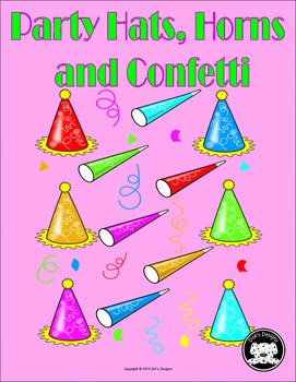 Party Hats, Horns, and Confetti Clipart