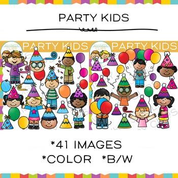 Party Kids Clip Art