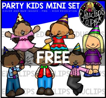 Party Kids Mini Clip Art Bundle {Educlips Clipart}