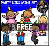 Party Kids Mini Clip Art Bundle {Educlips Clipart}