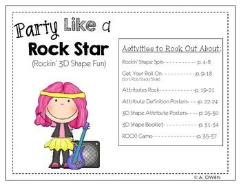 Party Like a Rock Star (Rockin' 3D Shape Fun)