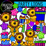 Party Lions {Creative Clips Digital Clipart}