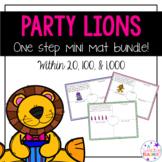 Party Lions Mini Bundle: One Step Word Problems