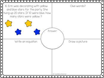 Party Lions One Step Word Problems within 20!