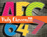 Party Party Chevrons!!! Alphabet -  300 DPI - PDF/ PNGs -