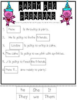Party Pig Pronouns