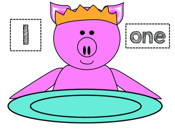 Counting Cupcakes Party Pig Theme