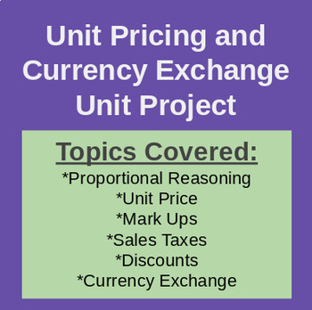 Party Planning Summative Project - Unit Price & Currency Conversion (Math 10)