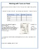 Party Planning booklet - Multiplication of Decimals
