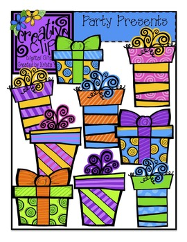 Party Presents {Creative Clips Digital Clipart}