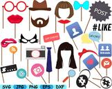 Party Props Photo Booth Prop Emoji clip art svg Glasses Ha