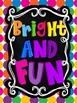 Party Scribble Alphabet {Primary Polka Dots Clip Art}
