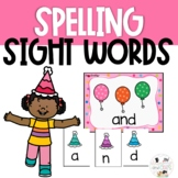 Party Sight Word Spelling Task Cards Review Game