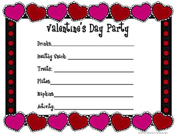 Party Sign-Up Forms