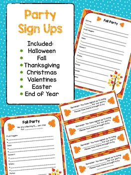 Thanksgiving Sign Up Sheet Worksheets Teaching Resources Tpt