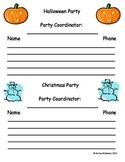 Party Sign Ups