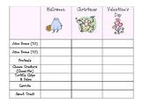 Party Sign-up Sheet