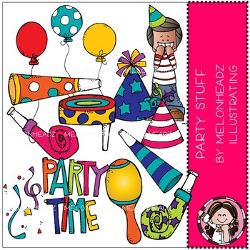Party Stuff clip art - COMBO PACK - by Melonheadz