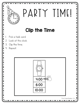 Party Time: {A Mini Unit to Practice Telling Time to the Hour and Half Hour}