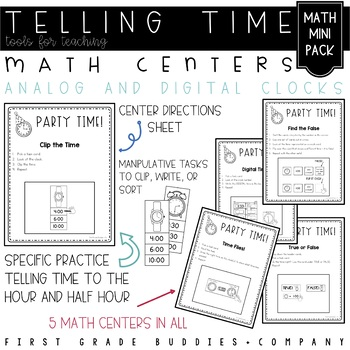 Party Time: {A Mini Unit to Practice Telling Time to the H