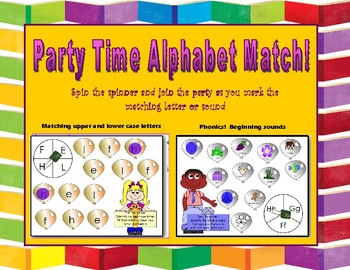 Party Time Alphabet Match