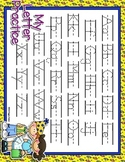 Party Time Dotted Letter with Line Alphabet Practice Mat D